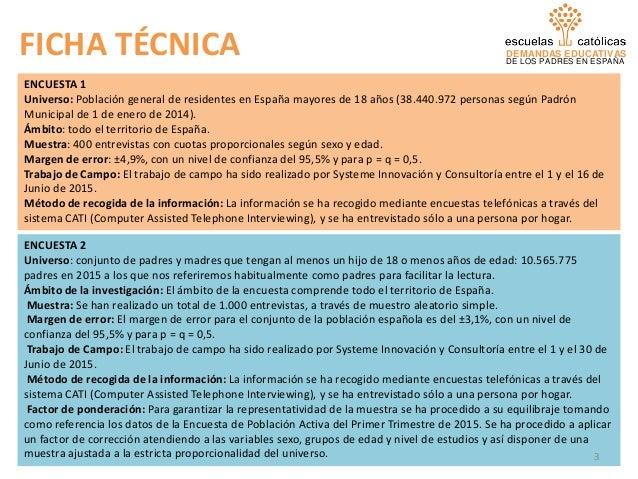 Estudio de las demandas educativas de los padres en España Slide 3