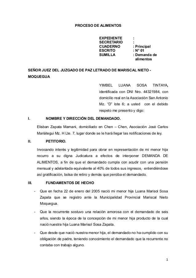 MODELOS DE DEMANDAS Y RESOLUCIONES