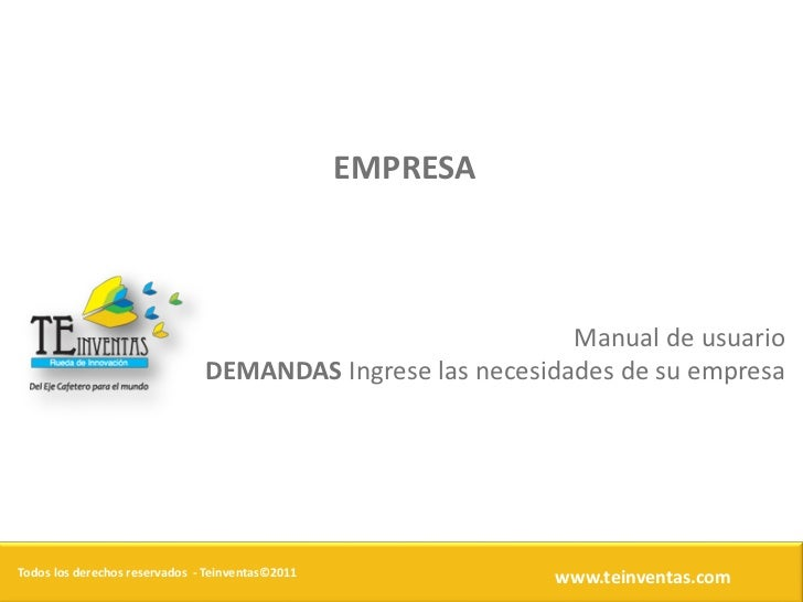 EMPRESA                                                            Manual de usuario                               DEMANDA...