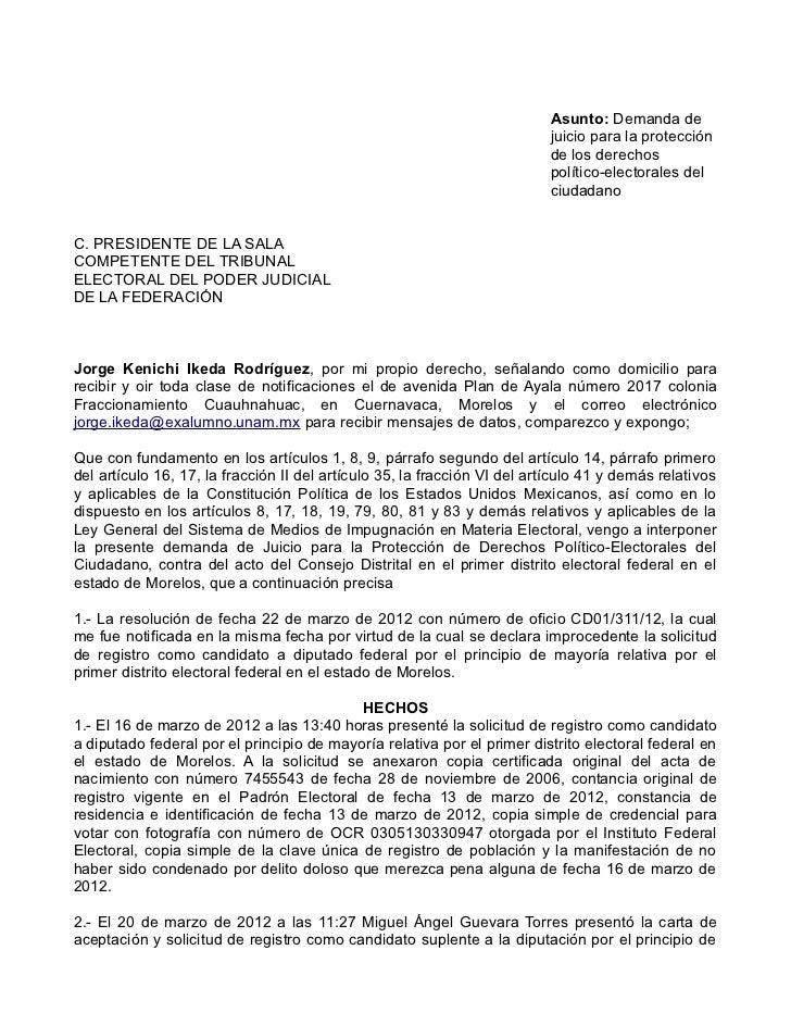 Demanda tribunalelectoral