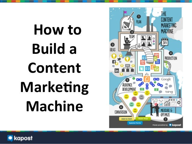 How	  to	  Build	  a	  Content	  Marke2ng	  Machine