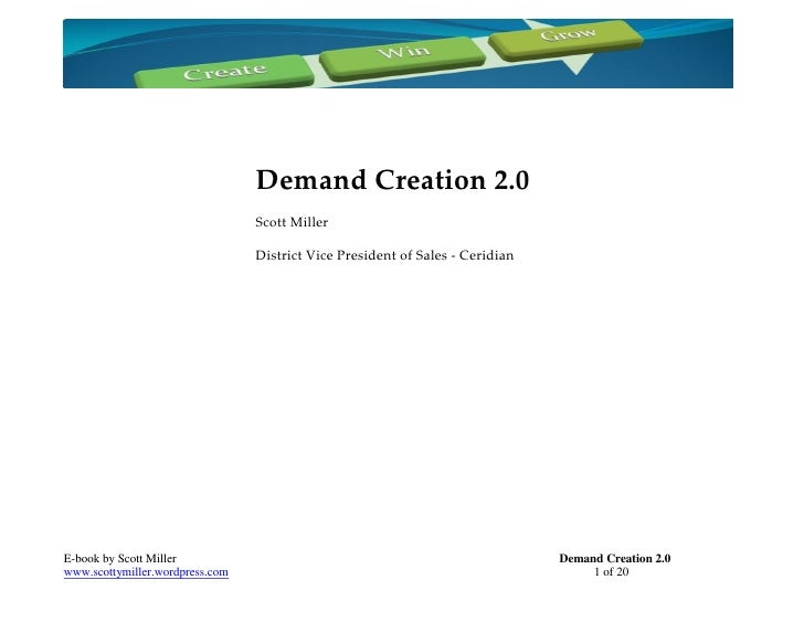 Demand Creation 2.0