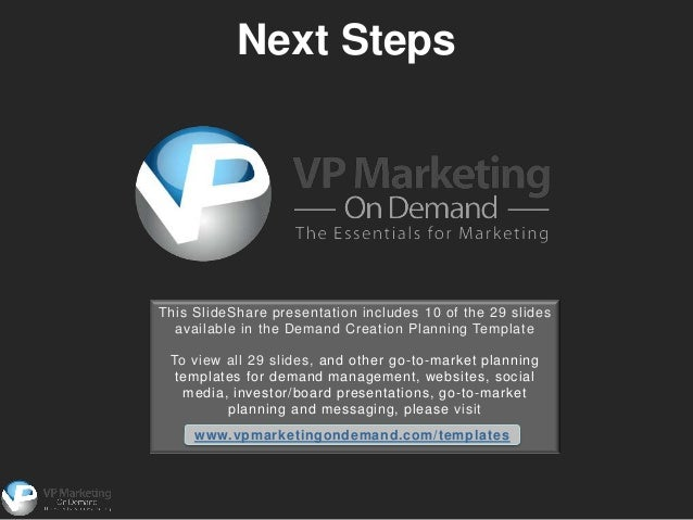demand generation plan template - demand creation planning powerpoint template