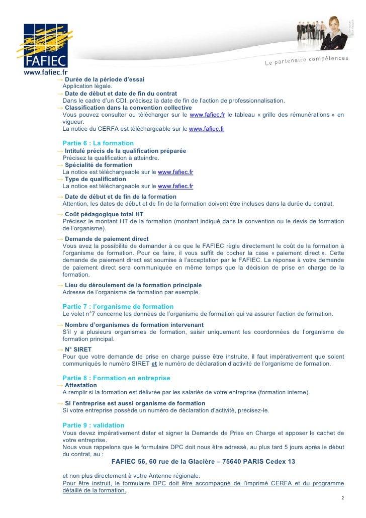 Demande financement fafiec contrat pro 01 2012 - Grille salaire contrat de professionnalisation ...