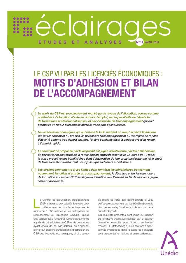 Le Contrat De Securisation Professionnelle Csp Vu Par Les Licencies