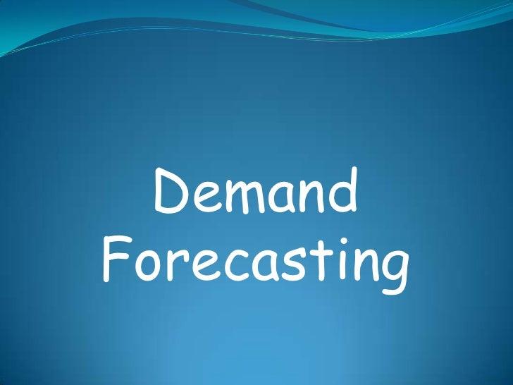 DemandForecasting