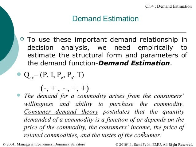 estimating demand Differentiated products demand systems (a) jonathan levin economics 257  stanford university fall 2009 jonathan levin demand estimation fall 2009.