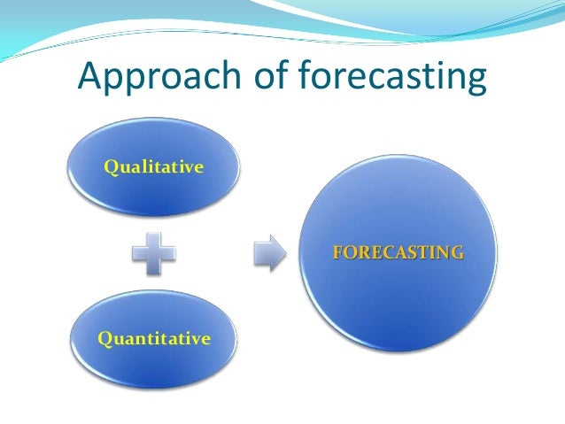 demand and forecasting Forecasting is used by companies to determine how to allocate their budgets for an upcoming period of time this is typically based on demand for the goods and.