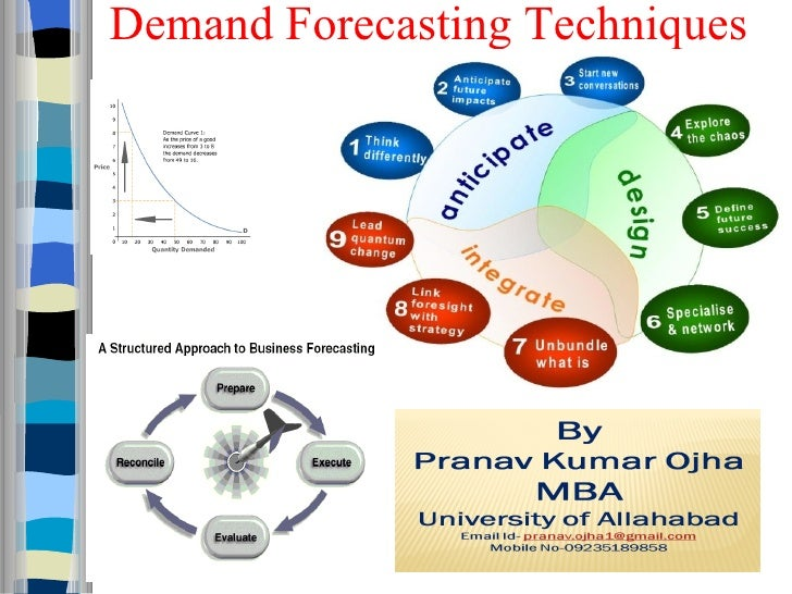 demand forecasting Demand forecasting is a well-studied topic, and most techniques used in practice today are relatively mature there are many commercial software packages for forecasting [12], ranging from stand-alone, specialized packages to modules in enterprise management systems one would be inclined to conclude that there is.