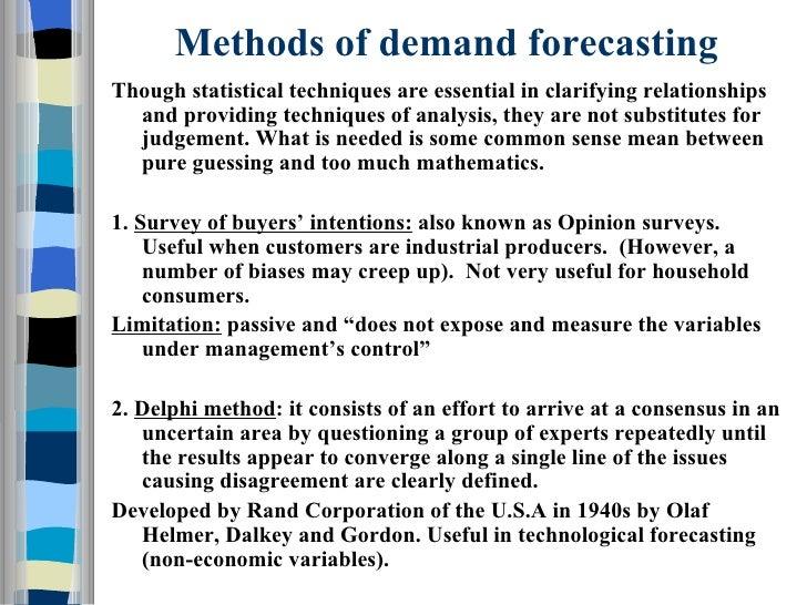 demand forecast methods - Isken kaptanband co