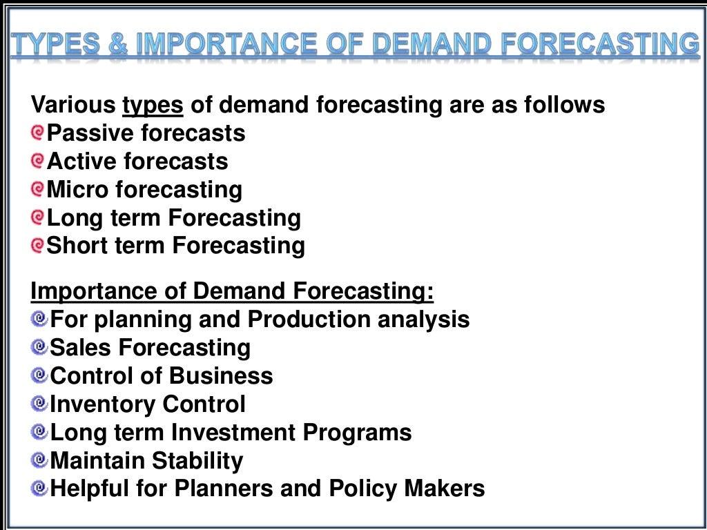 Managerial Economics- Demand Forecasting PPT