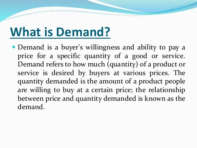 what is the relationship between demand and supply forecasting