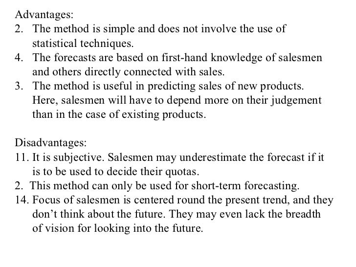 case study forecast methods essay example Case study: dell —distribution and of the internet-based direct sales model was that it generated a wealth of market data the company used to efficiently.