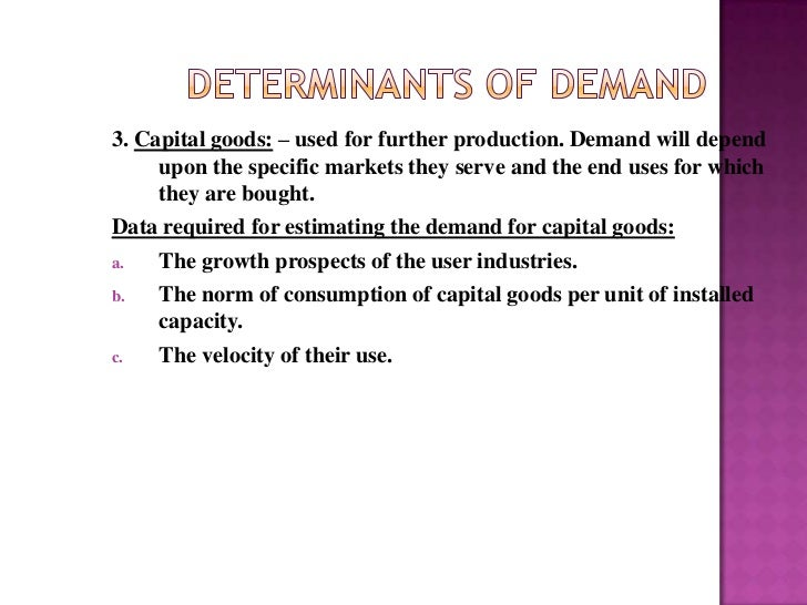 demand forecasting for consumer non durable Different genre of forecasting from what is used for a consumer consumer demand and making and the demand for household durable.