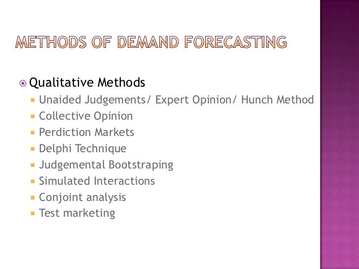Demand forecasting techniques ppt
