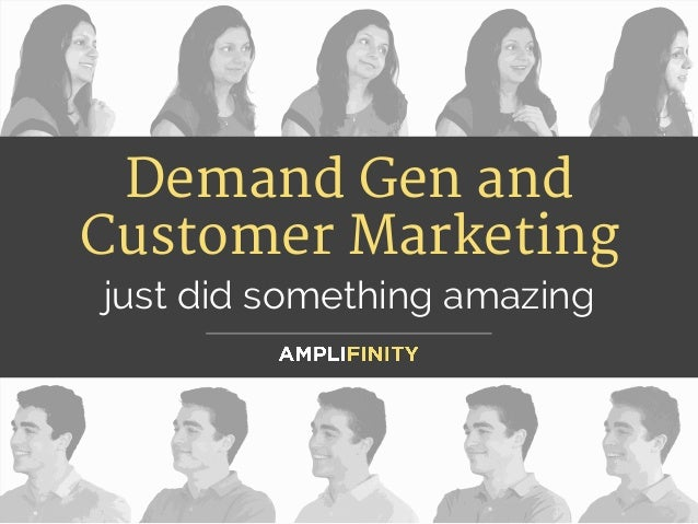 Demand Gen and Customer Marketing  just did something amazing