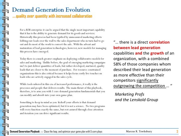 Demand Generation Playbook   5 Core Plays Slide 3