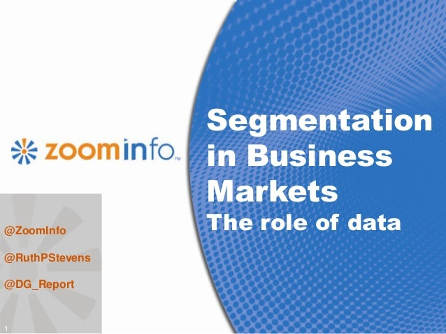 Role of segmentation in business life