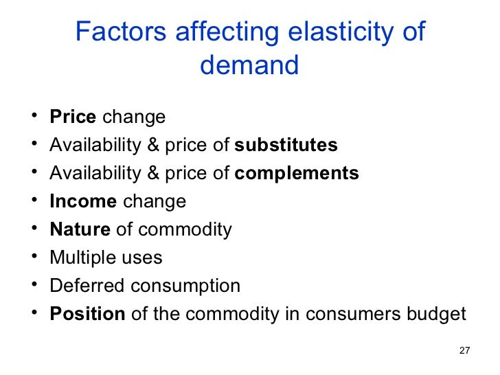 factors that affect the price elasticity of supply Definition of price elasticity of supply examples and diagrams explaining the difference between elastic and inelastic supply factors that affect elasticty.