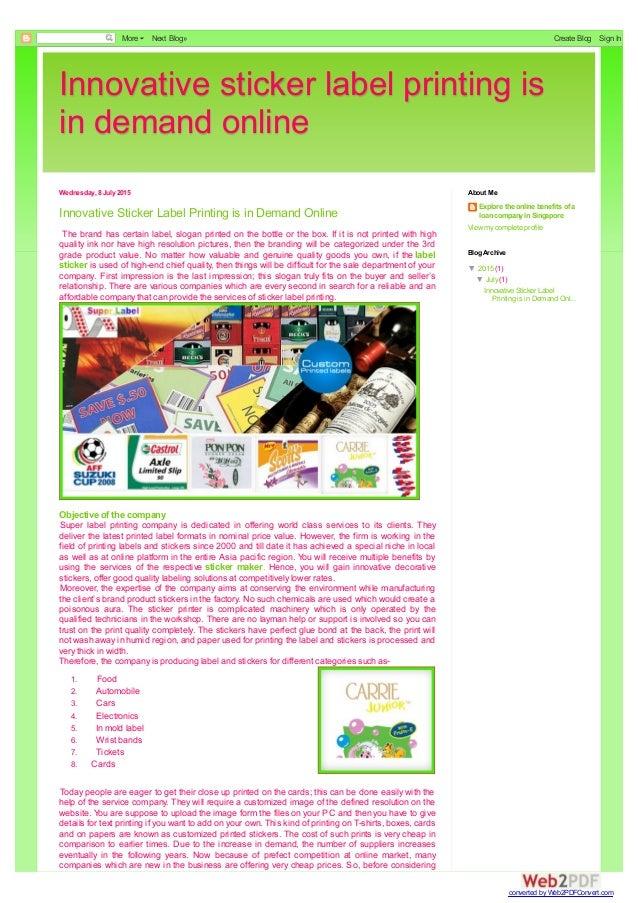 online label printing
