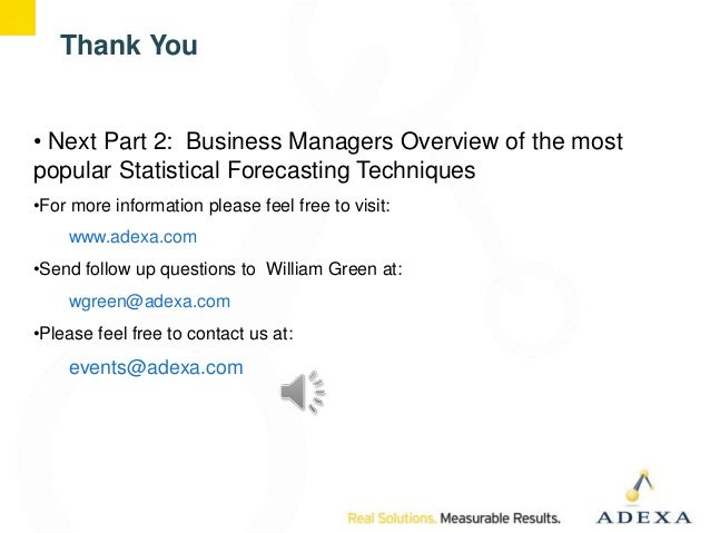Demand Planning For Managers When To Apply Statistical Forecasts