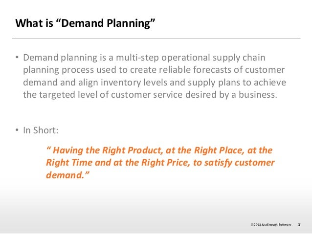 Demand planning session