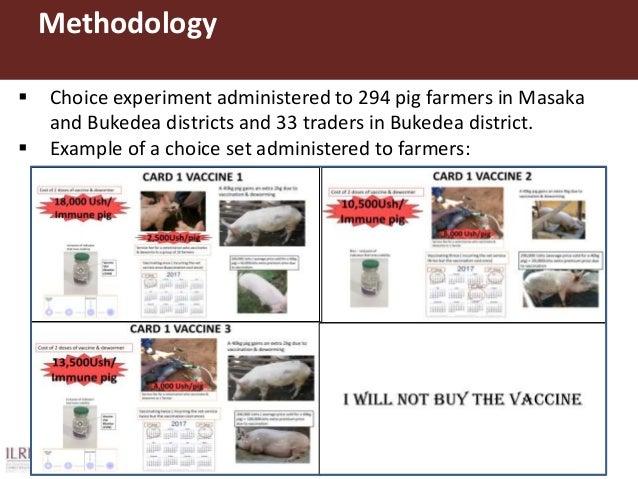 Results Attribute USD UGX Standard Error Vaccine-oxfendazole package administration cost 3.7754* 13,591.4 1.9869 Price pre...