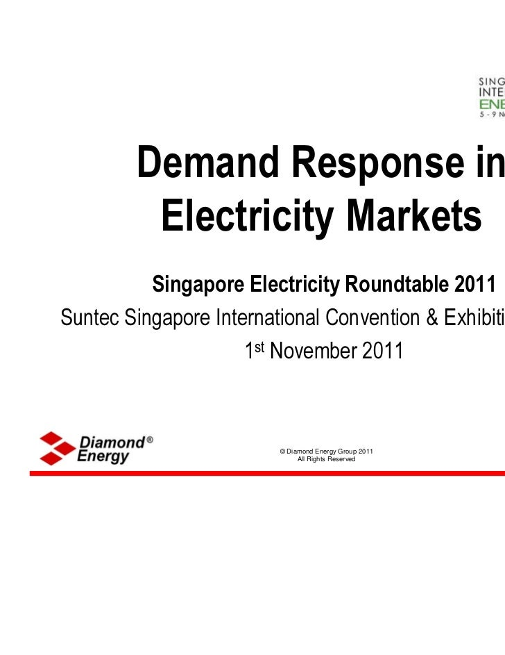 Demand Response in         Electricity Markets          Singapore Electricity Roundtable 2011Suntec Singapore Internationa...