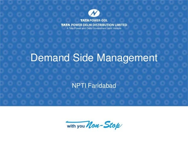 Demand Side Management NPTI Faridabad