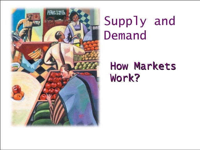 Supply and Demand How MarketsHow Markets Work?Work?