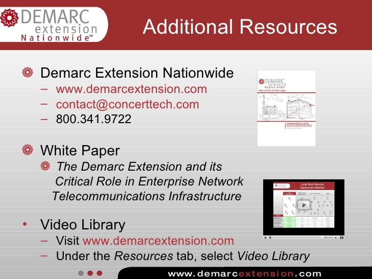 Understanding the Demarc Extension - A Facility's Most