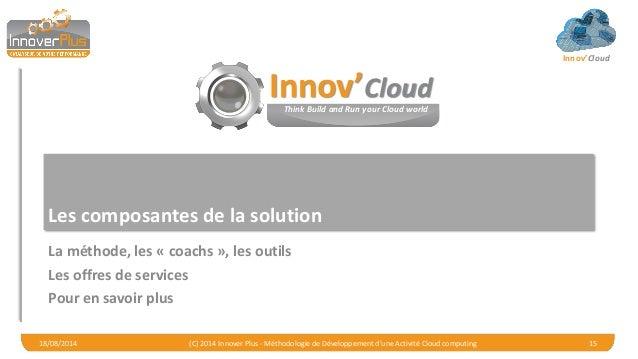 Innov'Cloud Les composantes de la solution La méthode, les « coachs », les outils Les offres de services Pour en savoir pl...