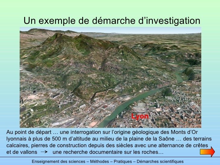 Un exemple de démarche d'investigation Enseignement des sciences – Méthodes – Pratiques – Démarches scientifiques Au point...