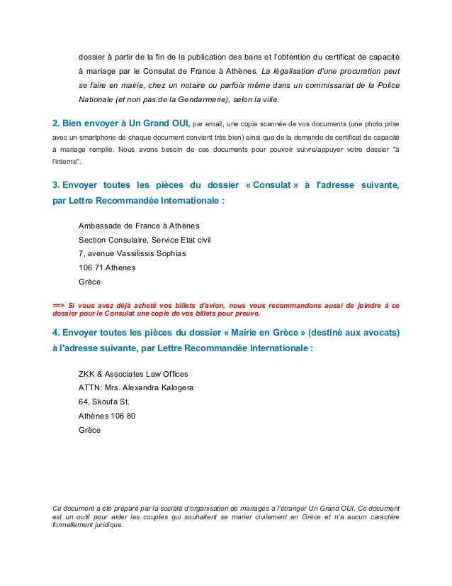2 dossier - Mariage Francais Etranger Documents