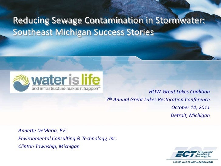 Reducing Sewage Contamination in Stormwater:Southeast Michigan Success Stories                                            ...