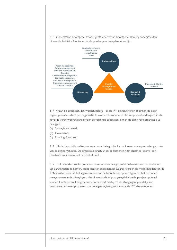 316 Onderstaand hoofdprocesmodel geeft weer welke hoofdprocessen wij onderscheiden binnen de facilitaire functie, en in el...