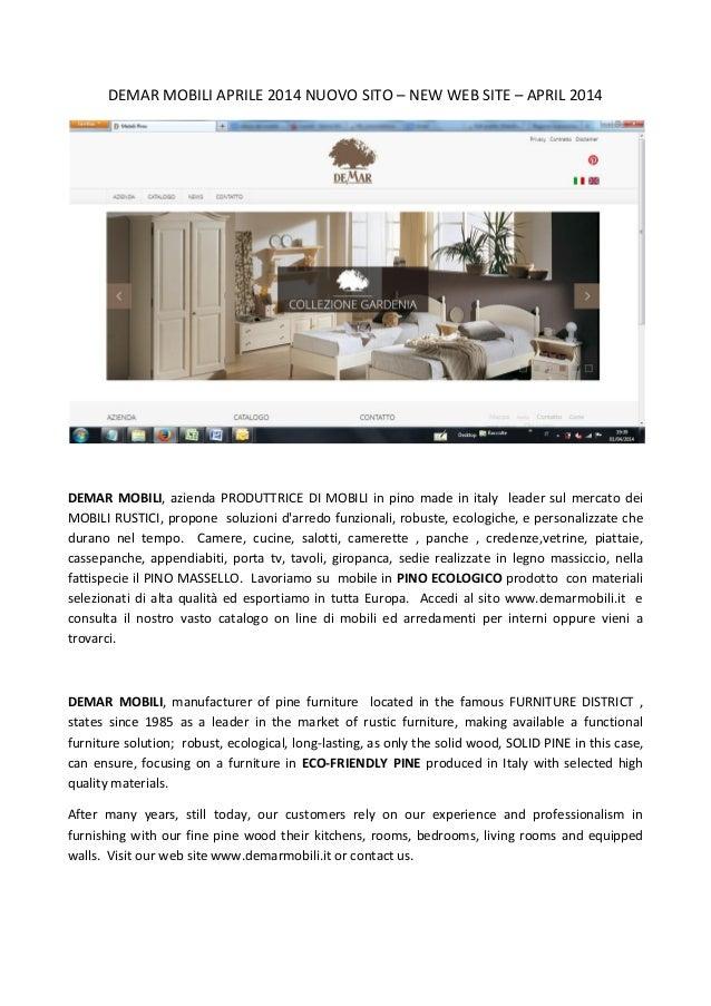 Demar mobili nuovo sito new web site 2014 for Sito web di design di mobili