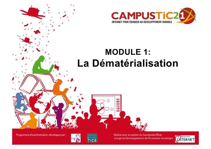 MODULE 1: La Dématérialisation