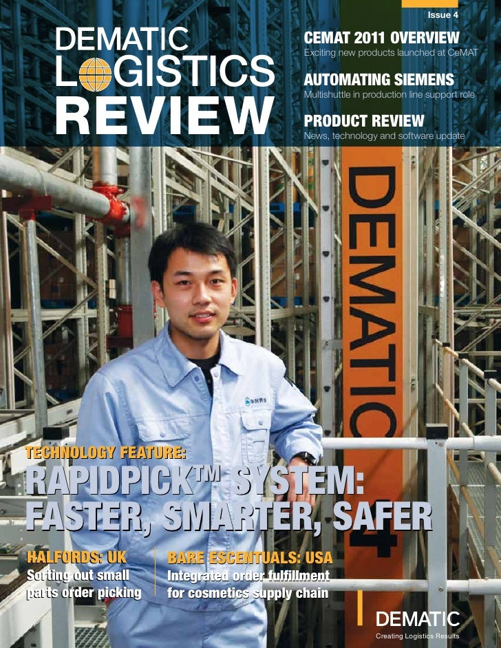 Issue 4                                             CEMAT 2011 OVERVIEW    L GISTICS                                      ...