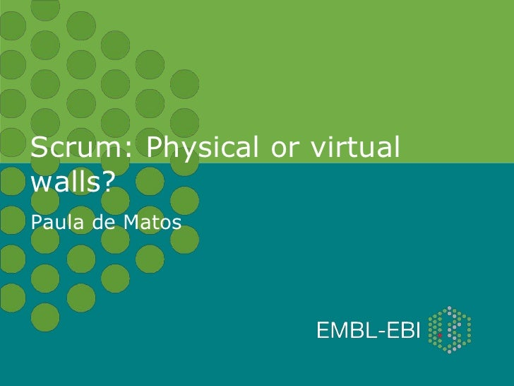 Scrum: Physical or virtualwalls?Paula de Matos