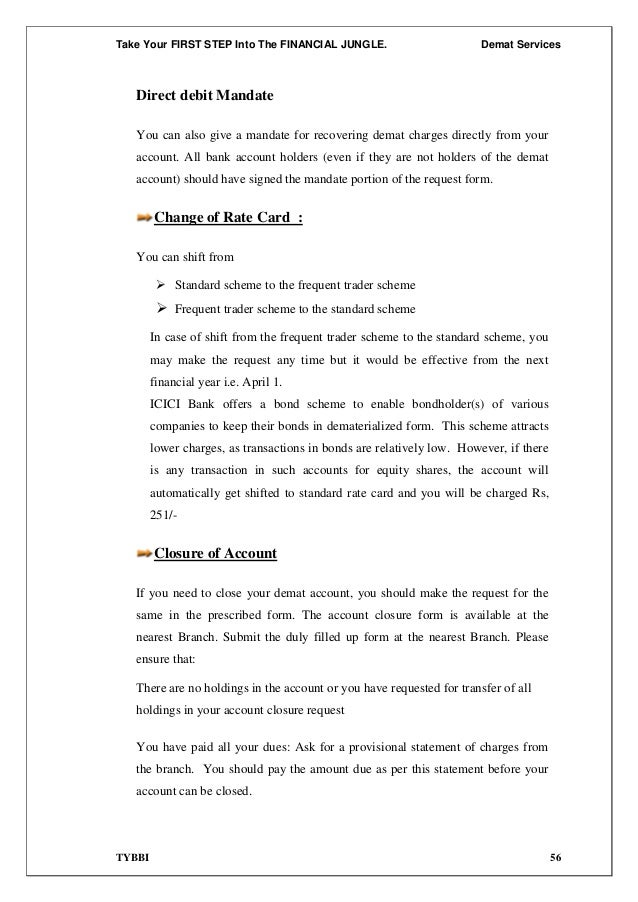 Free Business Letter Template Bank Of India Demat Account Closure