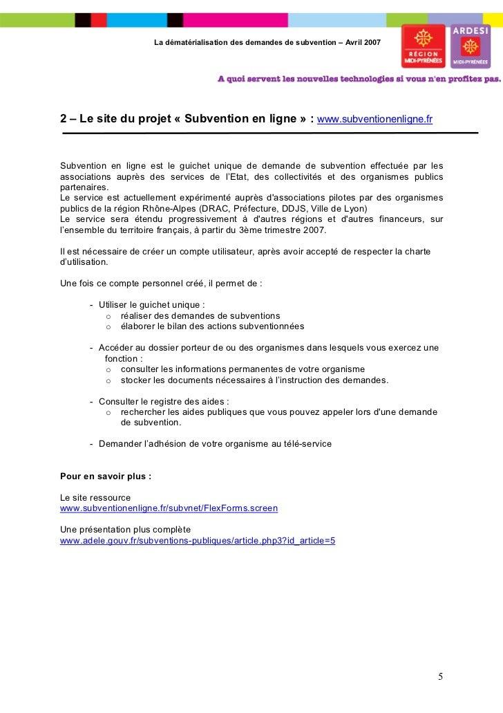 Demande Subvention  Ville De Lyon