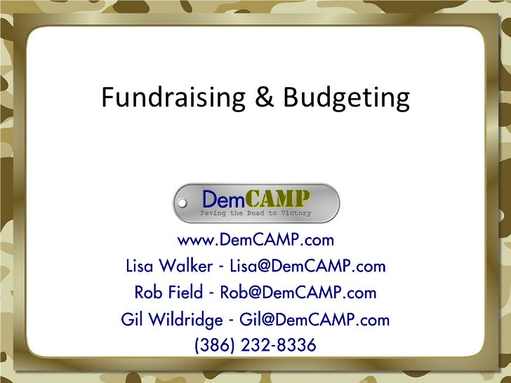 Fundraising & Budgeting
