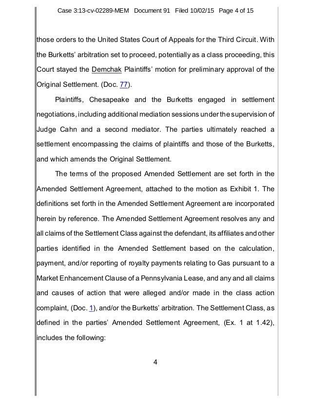 Court order granting certification of demchak royalty class action la 4 those platinumwayz