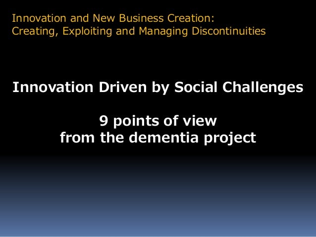innovation from the point of view In part two of the point of view series - innovation showcase - what could be more rewarding for a healthcare setting than to innovate solutions in care.
