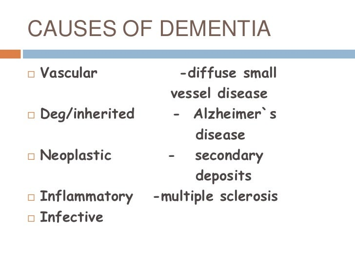 aetioloogy dementia The most common causes of dementia are alzheimer's disease and stroke in this video, susan steen, md, a neurologist at memorial hospital of tampa, de.