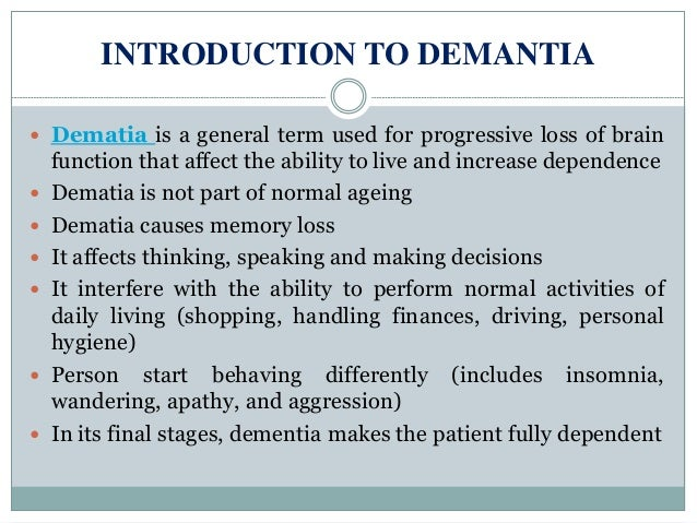 Dementia: Symptoms, stages, and types