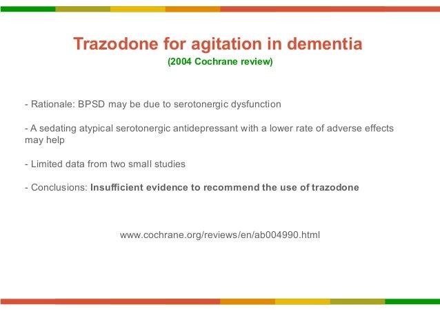 how to treat agitation in dementia
