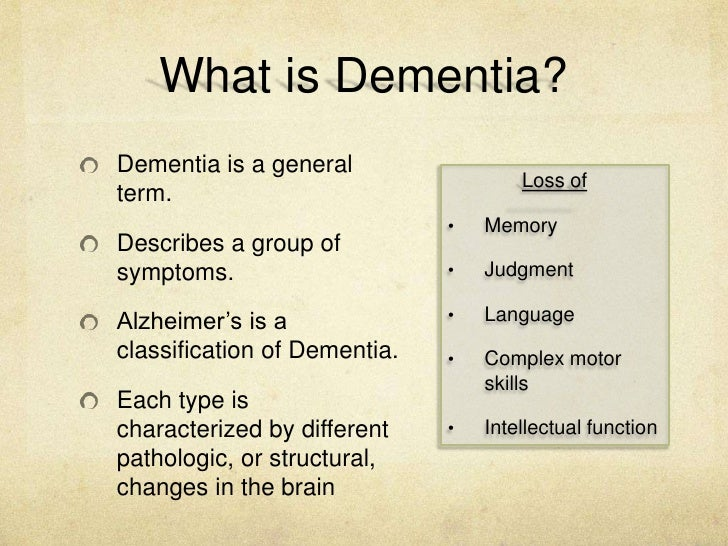 Understand the Process and Experience of Dementia Essay Sample