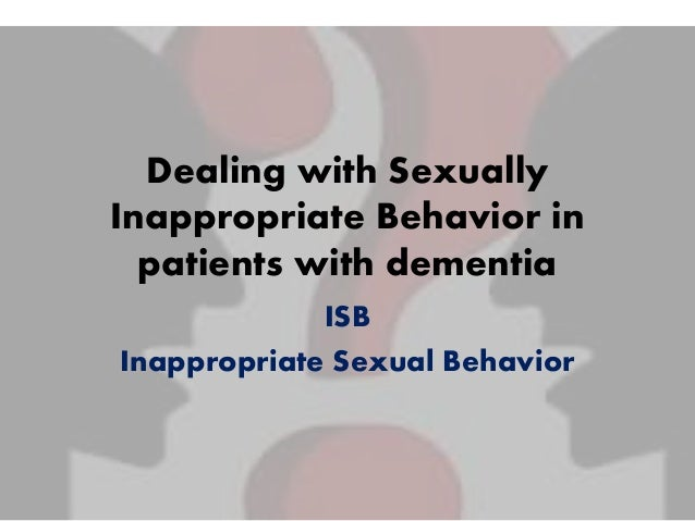 Interventions For Sexually Inappropriate Behavior